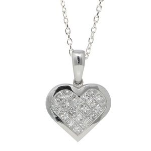 Gold Heart Diamond Pendant 1.01 Ct C31000110